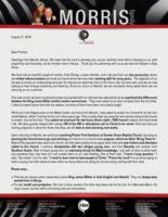 "Peter Morris Prayer Letter: ""Bring Them In"""