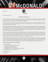 Corey McDonald Prayer Letter:  Expecting Great Things From God!