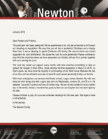 Charles Newton Prayer Letter:  From Three To Four