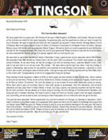 Garry Tingson Prayer Letter:  This Year Has Been Awesome!