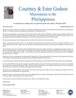 Courtney Godsoe Prayer Letter:  So Much to Be Thankful For!