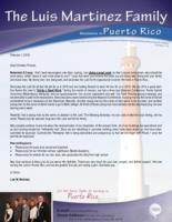 Luis Martinez Prayer Letter:  Doing a Great Work