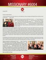 Missionary #6004 Prayer Letter:  A Fruitful Time