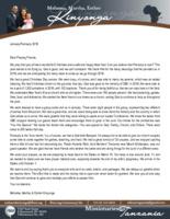 Mshama Kinyonga Prayer Letter:  Thanking God for the Many Blessings of 2018