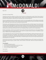 Corey McDonald Prayer Letter:  Adios, Au Revoir, Nzuri!