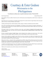 Courtney Godsoe Prayer Letter: God Is Continuing to Bless Our Efforts!