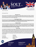 Dave Solt Prayer Letter:  Welcome New Year!