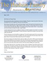 Simeon Hudson Prayer Letter:  Third Anniversary in Formosa