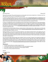 Walter Poole Prayer Letter:  Fruit to Your Account