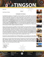 Garry Tingson Prayer Letter:  Our Deputation Trail Continues