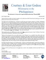 Courtney Godsoe Prayer Letter:  Boundless Opportunities