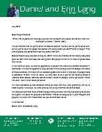 Daniel Lang Prayer Letter:  Thankful For Him!