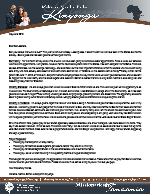 Mshama Kinyonga Prayer Letter:  Benjamin Mshama Kinyonga Has Arrived!