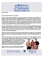Henry Gonzalez SPANISH Prayer Letter: Un Honor