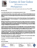 Courtney Godsoe Prayer Letter:  First Anniversary Service for New Church Plant