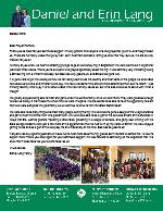 Daniel Lang Prayer Letter:  Survey Trip!