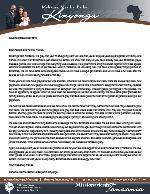 Mshama Kinyonga Prayer Letter:  Soul Winning Still Works