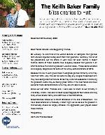 Keith Baker Prayer Letter:  Pray for Haiti