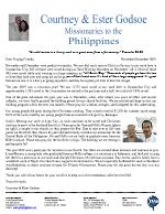 Courtney Godsoe Prayer Letter: A Victorious Year!