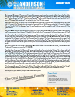 Oral Anderson Prayer Letter: Renewing Our Vision