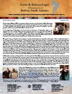 Xavier Lopez Prayer Letter:  Abigail's Salvation, Soul Winning, and God's Blessing