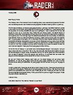 Mark Rader Prayer Letter: Youth Camp