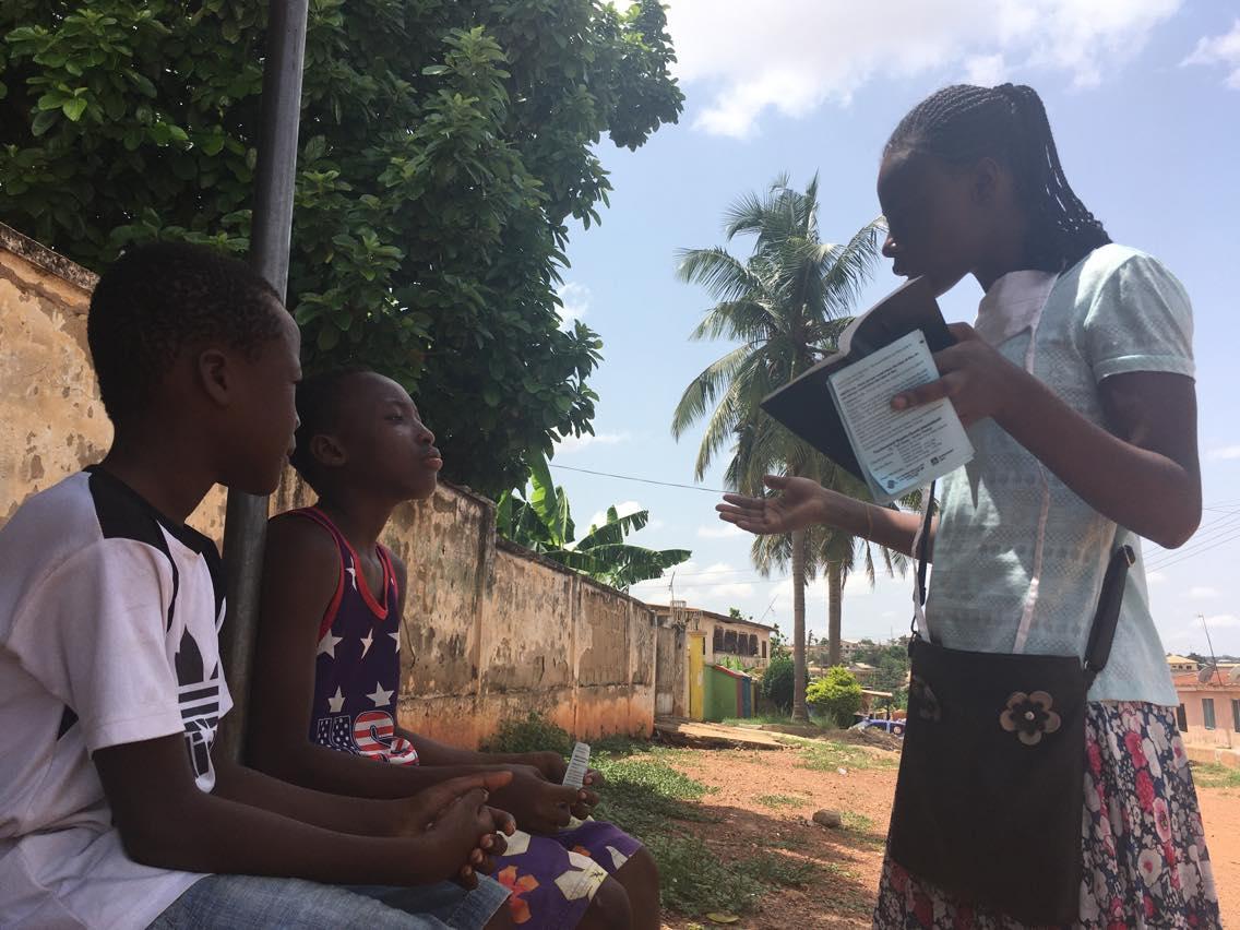 Ghanaian convert witnessing