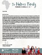 Mark Holmes Prayer Letter:  Evacuation Flight and Furlough Events