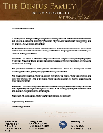 Tom Dinius Prayer Letter: Alpha and Omega