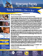 Tim Simmons Prayer Letter:  Introducing Our Daughter Emmalyn!
