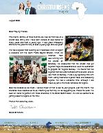 Caleb Christiansen Prayer Letter:  Nigeria Sunday in Nebraska