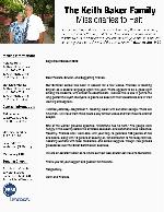 Keith Baker Prayer Letter: School Is Back in Session!