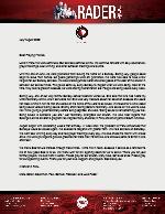 Mark Rader Prayer Letter: Food Drive