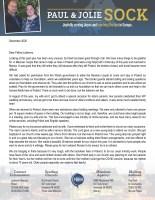 Paul Sock Prayer Letter: Summary of 2020