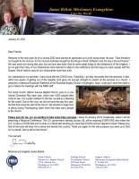 James Belisle Prayer Letter:  Back in the Air . . . I Hope!