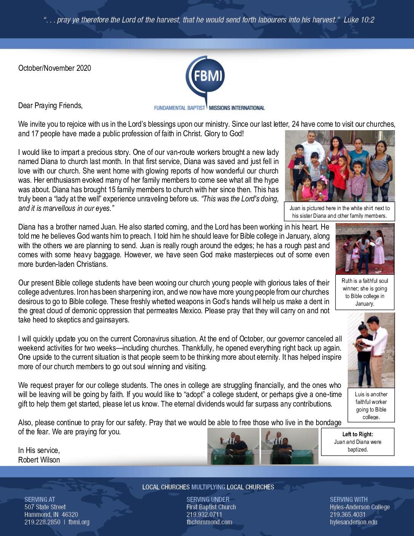 thumbnail of Robert Wilson Oct-Nov 2020 Prayer Letter – Revised