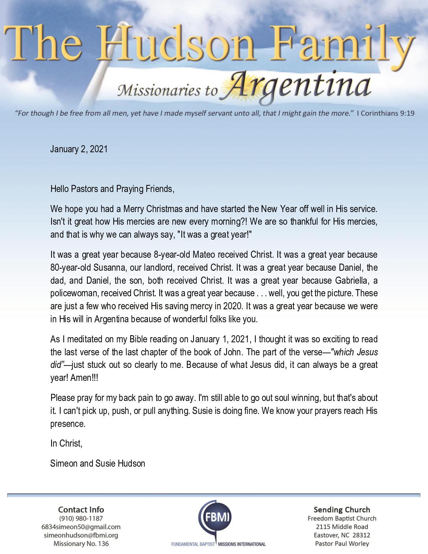 thumbnail of Simeon Hudson January 2021 Prayer Letter – Revised