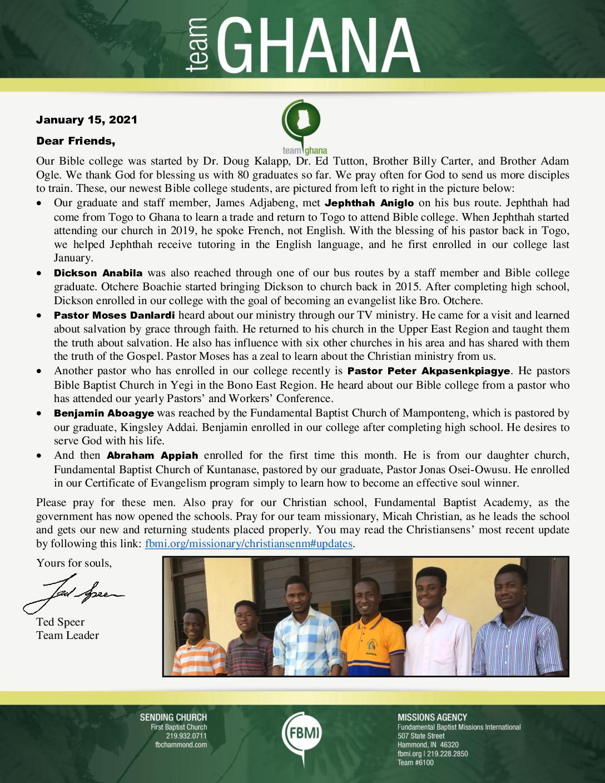 thumbnail of Team Ghana January 2021 Update – Revised