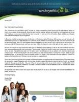 Wes Palla Prayer Letter: Season of Growth