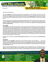 Fisa Mihy-mihyndu Prayer Letter: Salvations, Discipleship, Soul Winning, Etc.