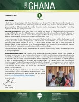 Team Ghana Update: Marriage and Missions