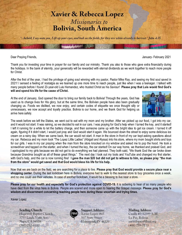 thumbnail of Xavier Lopez Jan-Feb 2021 Prayer Letter