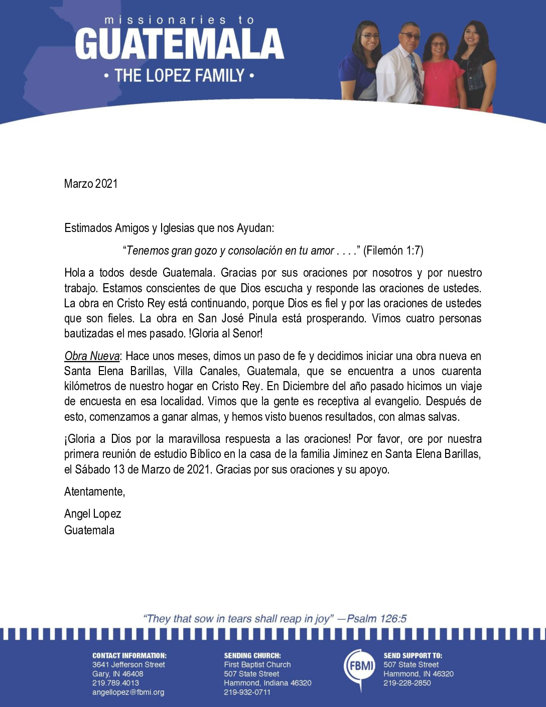 thumbnail of Angel Lopez March 2021 SPANISH Prayer Letter