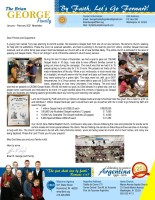 Brian George Prayer Letter: Tract Campaign