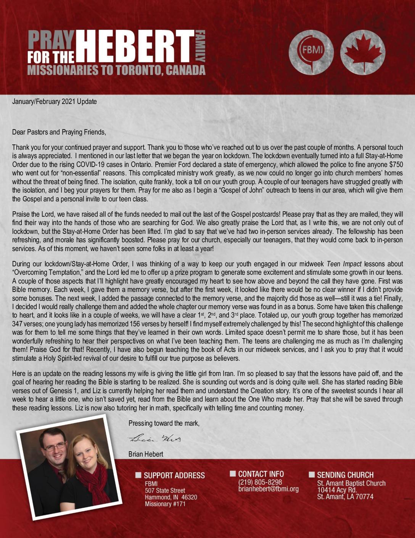 thumbnail of Brian Hebert Jan-Feb 2021 Prayer Letter
