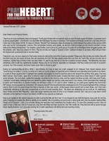 Brian Hebert Prayer Letter: So Much to Thank Him For!