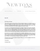 Charles Newton Prayer Letter: New Stages of Deputation and Family Life