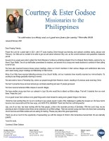 Courtney Godsoe Prayer Letter: A Great Start to 2021!