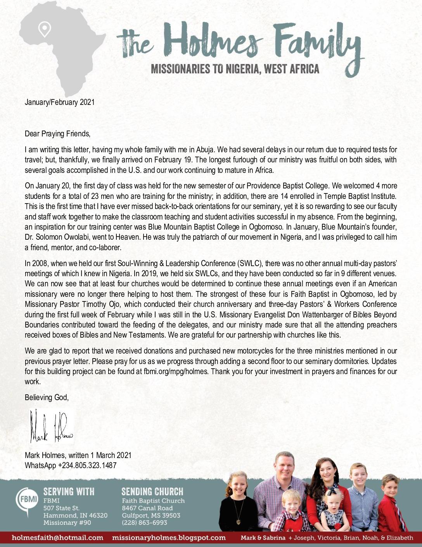 thumbnail of Mark Holmes Jan-Feb 2021 Prayer Letter