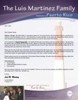 Luis Martinez Prayer Letter: Spring Program 2021 Is Around the Corner!